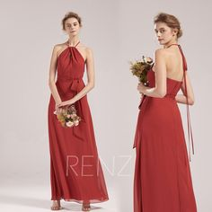 Bridesmaid Dress English Rose Chiffon Wedding Dress Long Halter Formal Dress Adjustable Strap Party Dress Open Back Fitted Prom Dress Lace Party Dresses, Long Wedding Dresses, Tulle Dress, I Dress, Prom Dresses, Formal Dresses, Dusty Blue Bridesmaid Dresses, Illusion Dress, Dress Long