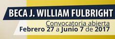 BECA J. WILLIAM FULBRIGHT – PROFESIONALES COLOMBIANOS  Más Información:https://goo.gl/TSHqys