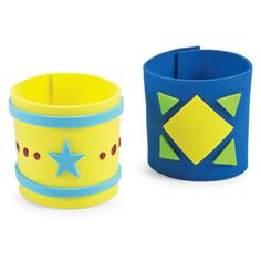 Definitely like the craft station cuffs idea, but it's got to be a kids do it yourselves!