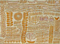 'Yellow Territoryscape': Marina Strocchi: 122 x 167.5cm: 2009: acrylic on linen