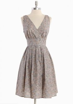 Willoughby Hills Floral Dress In Gray | Modern Vintage Dresses    A classic, super flattering and adorable print. Looks light too!