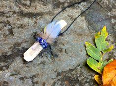 Oak, Danburite, Lapis Lazuli, Tanzan Aura Quartz Shamanic Traveling Healing Wand, Magic Wand, Reiki Energy, Native American OOAK Jewelry - pinned by pin4etsy.com