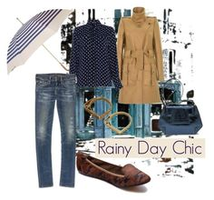 """""""Rainy Day Chic"""" by thenandnowshop ❤ liked on Polyvore"""