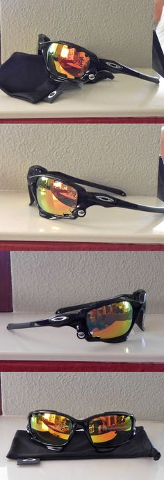 Unisex accessories: New Oakley Racing Jacket Polarized Sunglasses Polished Black / Ruby Vented Lens BUY IT NOW ONLY: $109.5 #ustylefashionUnisexaccessories OR #ustylefashion