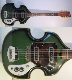 Guitar Blog: Vintage 1960s Teisco Bizarre Guitar Amazingly Cool Violin Shape Rare Mod Rocker