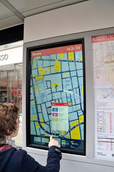 Real-time digital information mapping - Digital bus shelters for Transport for London.