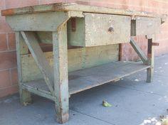 vintage 1940's workbench