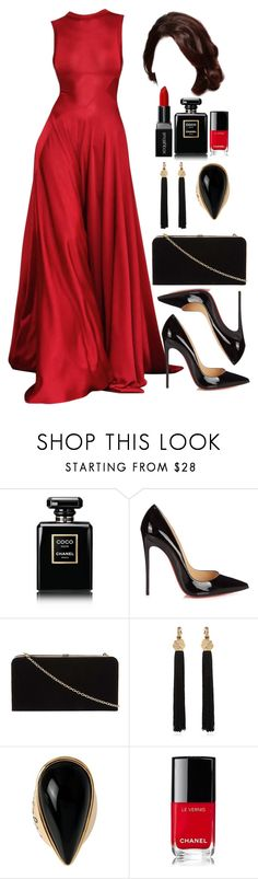 """Untitled #4597"" by natalyasidunova ❤ liked on Polyvore featuring Chanel, Christian Louboutin, Dorothy Perkins, Yves Saint Laurent, Diane Von Furstenberg and Smashbox"