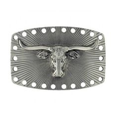 Satin Longhorn Attitude Belt Buckle. Cost in GBP; Rhinestone Clothing is a UK company.