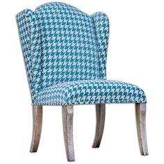 Uttermost Winesett Blue Armless Chair 23618