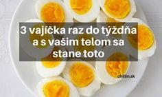 Čo sa stane s vašim telom, ak budete jesť 3 vajíčka každý týždeň