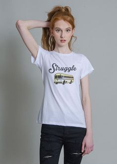 Struggle Bus Fitted Tee Dream Closets a3b9f61a1