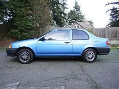 My first car, a 1991 Toyota Tercel.  It came without a radio!!! YIKES!!