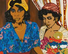 Mickalene Thomas, Tamika and Jessica with Flowers, 2008, Sotheby's: Contemporary Art Day Auction