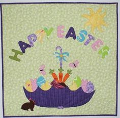 "Happy Easter Wall Hanging  29"" x 29"""