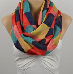 ON SALE  Chevron  Infinity Scarf Shawl Circle Scarf by LIFEPARTNER, $15.00