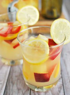 This drink is fully loaded with all the essential fruit and juice to make this sweet sangria a necessity at every shindig. Get the recipe at Fake Ginger. Spiked Lemonade, Pineapple Lemonade, Pineapple Punch, Watermelon Lemonade, Frozen Lemonade, Refreshing Drinks, Summer Drinks, Fun Drinks, Summer Sangria