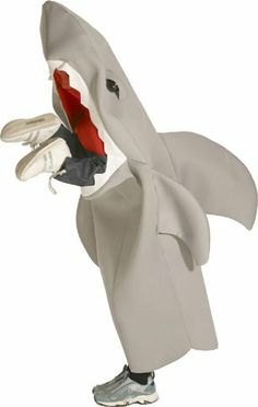 Child's Man Eating Shark Funny Costume (Sz: 7-10)