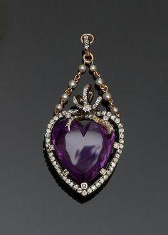 Purple Jewelry, Amethyst Jewelry, I Love Jewelry, Heart Jewelry, Fine Jewelry, Geek Jewelry, Hippie Jewelry, Jewelry Making, Victorian Jewelry