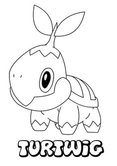 Pokemon Coloring Page Of Turtwig Pikachu Coloring Page