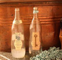 Vintage key bottle vase