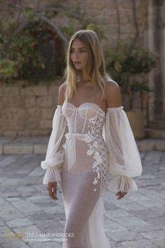 Berta Muse 2020 Fall Bridal Collection – The FashionBrides Wedding Dress Trends, Dream Wedding Dresses, Wedding Attire, Boho Wedding, Bridal Dresses, Wedding Gowns, Prom Dresses, Mermaid Wedding, Pretty Dresses