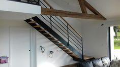 Escalier bois/métal
