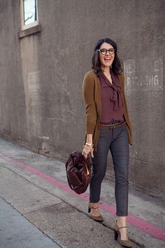 The perfect fall outfit with a hint of Plum Perfection #COTM