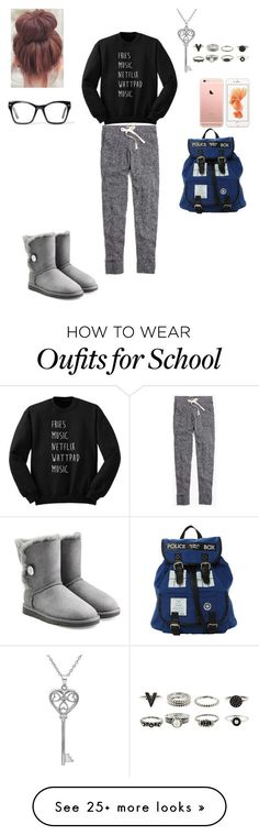 """""""When you get dumped and you have to go to school"""" by mesber on Polyvore featuring Madewell, UGG Australia, Amanda Rose Collection and Spitfire"""