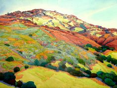 robin purcell california watercolors in the plein air tradition: After the Fire Series, Mount Diablo