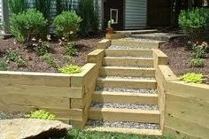 wood retaining wall - Google Search