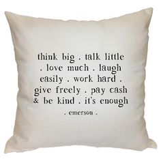 Think Big Pillow $46