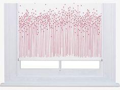 JUDD WHITES Polyester W120cm Pod red roller blind - HabitatUK