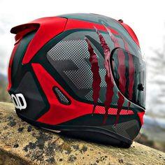 Agv Helmets, Biker Helmets, Custom Motorcycle Helmets, Futuristic Motorcycle, Custom Helmets, Racing Helmets, Motorcycle Gear, Women Motorcycle, Cafe Racer Helmet