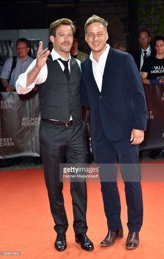 Actor Ken Duken and Tom Wlaschiha attend the 'Berlin Fallen' Premiere during Munich Film Festival 2017 at Gasteig on June 28, 2017 in Munich, Germany.