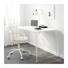 "FALKHÖJDEN  Desk, white    $79.99  The price reflects selected options  Article Number: 002.889.35  The melamine surface is durable, stain resistant and easy to keep clean.  Size  43 1/4x25 5/8 ""  FALKHÖJDEN Desk - white - IKEA"