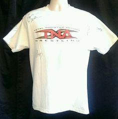 TNA Autographed Men's Shirt Chyna Abyss Eric Young Earl Hebner Size M Wrestling