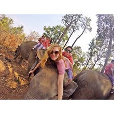 I would rather own little and see the world, than own the world and see little of it #travel #elephant #ride #mahout #chiangmai #thailand #gopro