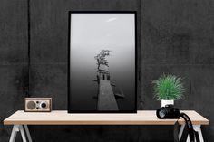 Lake Deck Print, Abstract Art Print, Home Decor, Modern Decor, Wall Art, Wall Decor, Photo, Print, Poster Print, Printable Instant download