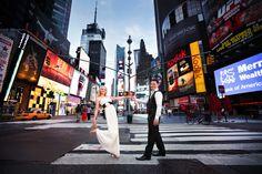 Times Square Wedding Shot