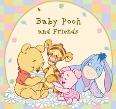 Disney Winnie the Pooh Baby Pooh and Friends Pooh Bear Tigger Piglet Eeyore Edible Cake Topper Image