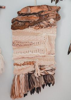 Bonfire Heart, Neutral Tones, Free Spirit, Fiber Art, Macrame, Weaving, Blanket, Create, Painting