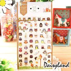 £0.67 - https://www.aliexpress.com/item/1-Sheet-Cute-Owl-Cartoon-Daisyland-Scrapbook-PET-Paper-Kawaii-Stickers-Diary-Decal-Post-It-Phone/32704361061.html?spm=2114.13010608.0.0.ee8z8z