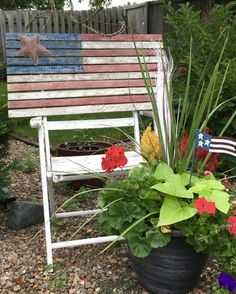 Thrifty of July Vignette - Thrifty to Nifty Decorating On A Budget, Vignettes, Nifty, 4th Of July, Repurposed, Things To Come, Plants, Summer, Home Decor