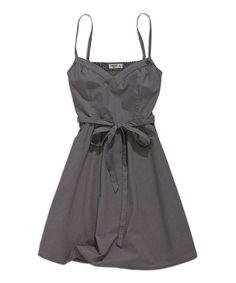 d85a4c8623a Dark Gray Tie-Waist A-Line Dress Grey Tie