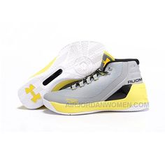61586ca24 High Quality Free Shipping Under Armour Stephen Curry 3 Shoes Yellow White  Gray