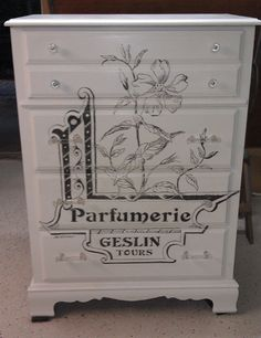 Hand Painted Parfumerie Chest of Drawers by WebstersChalkPaint, $225.00