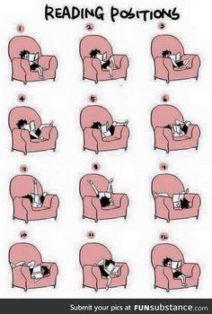 Nishinoya Yuu demonstrates the various reading positions. 9gag Funny, Funny Relatable Memes, Funny Quotes, Book Memes, Book Quotes, Yuumei Art, Book Nerd Problems, Nishinoya Yuu, Book Fandoms