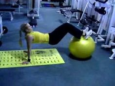 fitball hamstrings training - YouTube try IA Fitness www.fitia.ca
