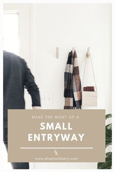 How to Make the Most of a Small Entryway: With a little creativity, and the right products, you can make your small entryway a simple, functional, and beautiful space. Interior Design Advice, Minimalist Home Decor, Just The Way, Beautiful Space, Home Decor Styles, Mudroom, Home Organization, Home Remodeling, Mid-century Modern